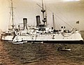 Admiral George Dewey returns from Manila on USS Olympia (C-6) to New York Harbor, 1899 (26701541926).jpg