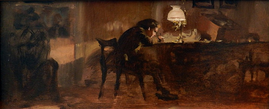 Adolph von Menzel - Knabe am Schreibtisch