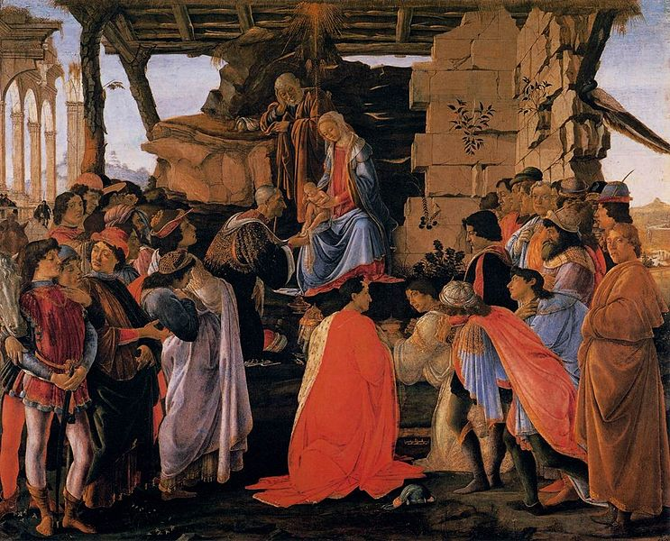 Adoration of the Magi by Sandro Botticelli (today in the Uffizi)