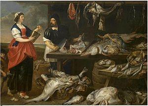 Adriaen van Utrecht - Fishmonger's Stall