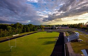 Benedictine College Preparatory - Image: Aerial Benedictine College Preparatory