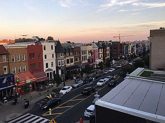 Adams Morgan - Aerial view of 18th Street NW