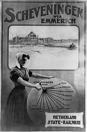 Oberhausen–Arnhem railway - All roads lead to Emmerich, 1920s poster