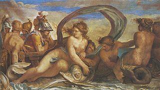 Agostino Carracci, Teti e Peleo, Palazzo del Giardino, Parma