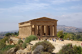 Temple of Concordia, Agrigento - Image: Agrigent BW 2012 10 07 12 52 27