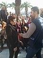 Ahlem Belhaj à la Marche pour l'égalité dans l'héritage au Bardo Tunis, le 10-03-2018.jpg