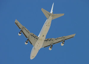 Northrop Grumman Guardian - The pod mounted on the belly of an Air Atlanta Europe 747 which was leased by FedEx for the flight tests in May, 2006