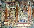 Ajanta Cave 1 Mahajanaka Jataka mural detail.jpg