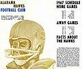 Alabama Hawks (semi-pro American CFL football club) brochure, 1960s.jpg