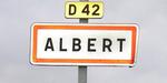 Panneau à l'entrée Sud de la ville (venant de Méaulte), en 2005.
