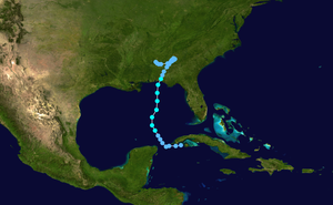 Tropical Storm Alberto (1994) - Image: Alberto 1994 track