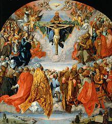 """Allerheiligenbild (""""Landauer Altar""""), Öl auf Lindenholz (1511), Kunsthistorisches Museum (Quelle: Wikimedia)"""