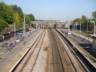 Alexandra Palace railway station - Looking north from the footbridge