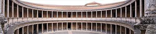 Pation of the palace Charles V in Granada