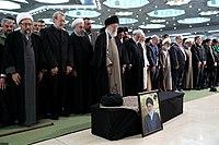 Ali Khamenei Praying for Ayatollah Hashemi Shahroudi06.jpg
