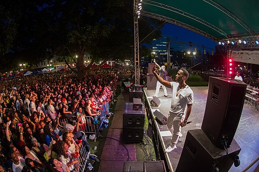 Boyz II Men performing at the 2015 Alive@Five Summer Concert Series hosted by Stamford Downtown