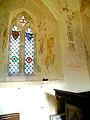 All Saints Church, Little Kimble Buckinghamshire, England. St Francis preaching to birds.jpg