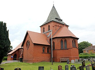 Listed buildings in Saughall - Image: All Saints Church, Saughall