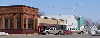 Allen, Nebraska - Downtown Allen: north side of 2nd Street, east of Clark Street