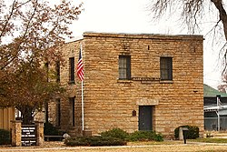 The former Allen County Jail, an Iola landmark