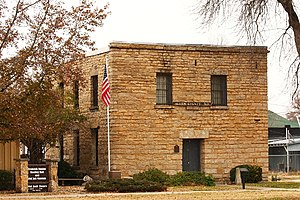 The old Allen County Jail in Iola