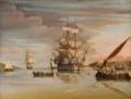 Almirante Napier a bordo da nau 'Rainha de Portugal', em Lisboa depois da sua vitória sobre a esquadra de D. Miguel (1833) - M. Yarwood (Museu de Marinha).png