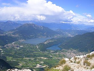 Sugana Valley - View of Caldonazzo and Levico lakes from Cima Vezzena