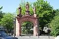 Altstadt Koblenz, Rokokoportal des kriegszerstörten Dominikanerklosters.jpg