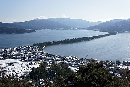 Amanohashidate view from Kasamatsu Park