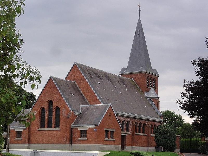 Amigny-Rouy (Aisne) église Saint-Quentin