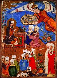 An angel presenting Mohammed with a town.jpg