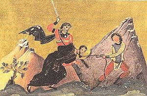 Juventinus and Maximinus - Image: Anastasius of Persia (Menologion of Basil II) 2