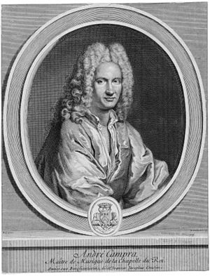 Nicolas Edelinck - André Campra, 1725; after a painting by André Bouys