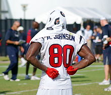 Johnson cools down at Houston Texans training camp 40190855f