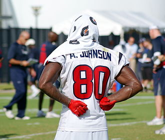 Andre Johnson - Johnson cools down at Houston Texans training camp