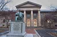 Andrew Dickson White statue and Goldwin Smith Hall.jpg