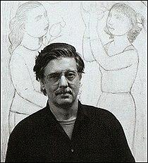 Andrew Stevovich in his studio, April 2001.jpg