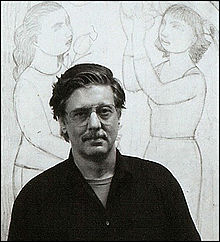 Andrew Stevovich in his studio, April 2001.jpg