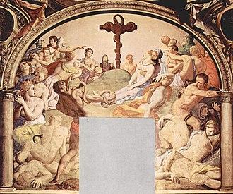 Ophites - Agnolo Bronzino, Il serpente di bronzo, from the chapel of Eleonora of Toledo, Firenze, Palazzo Vecchio