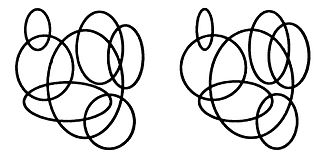 Stereoscopic depth rendition - A stereogram of intertwining rings. When fused by an observer, perceived depth increases with viewing distance.