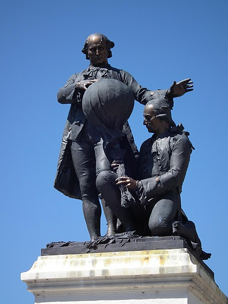 Monument of the Montgolfier brothers in Annonay - Ardèche - France