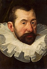 Portret mężczyzny w fantazyjnej kryzie