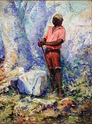 Capoeira - Zumbi, painted by Antônio Parreiras
