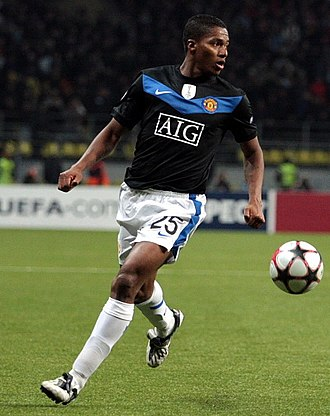 Antonio Valencia - Valencia playing against CSKA Moscow during his first season at Manchester United