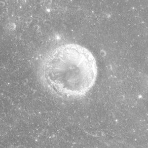 Anville (crater) - Apollo 15 mapping camera image