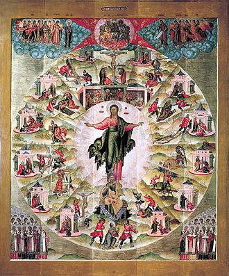 Acts of the Apostles - Ministry of the Apostles: Russian icon by Fyodor Zubov, 1660