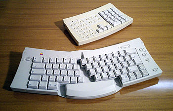 Apple Adjustable Keyboard is an adjustable spl...