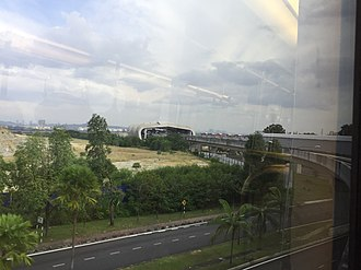 Putra Heights LRT station - Image: Approaching Putra Heights LRT station