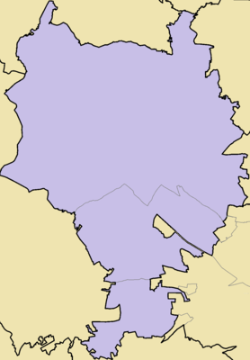 Location map Aradippou municipality with quarters 1