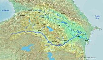 Aras (river) - Image: Arasrivermap